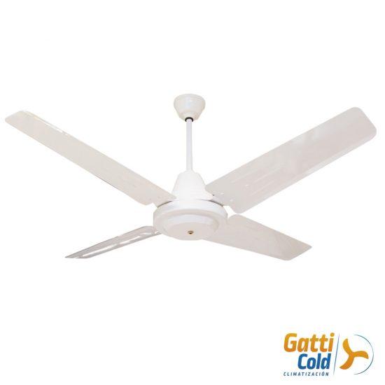 GattiCold Ventilador de techo clasico blanco