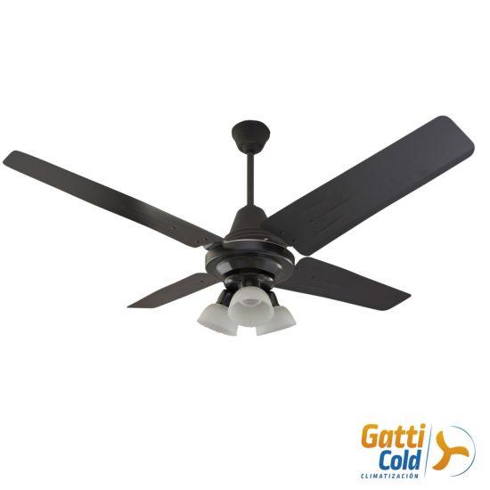 GattiCold Ventilador de techo clasico negro