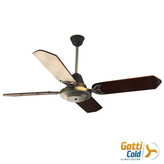 GattiCold Ventilador de techo de_lujo platil Y madera