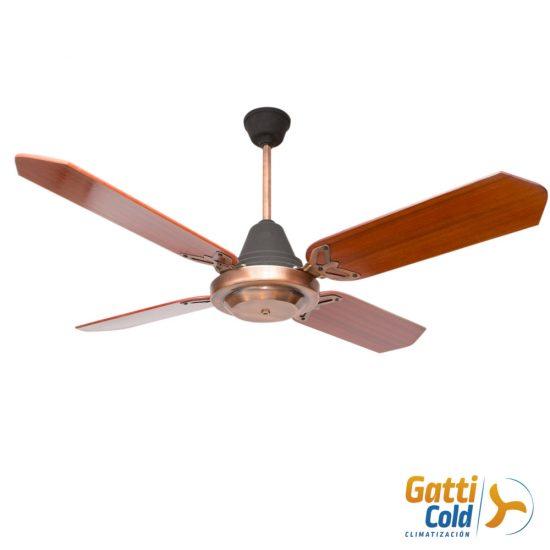 GattiColgd Ventilador de techo lujo en cobre y madera